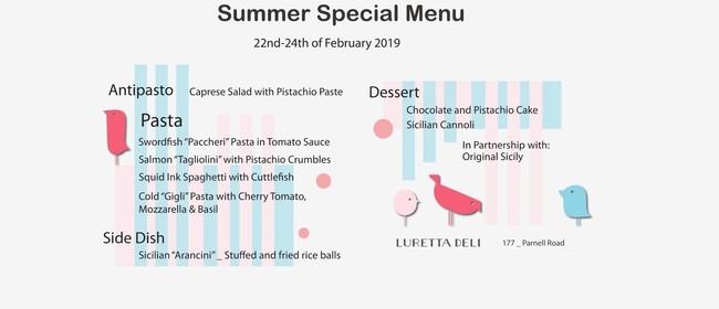 Italian Special Summer Menu