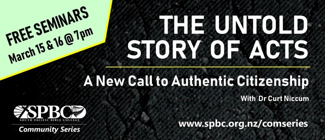 World-Class Bible Scholar presents: The Untold Story of Acts