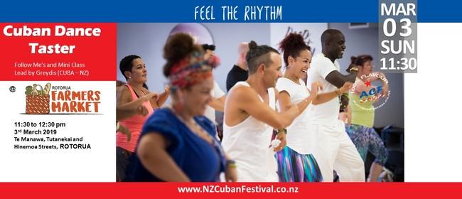 Cuban Taster Dance Class At Farmers Market