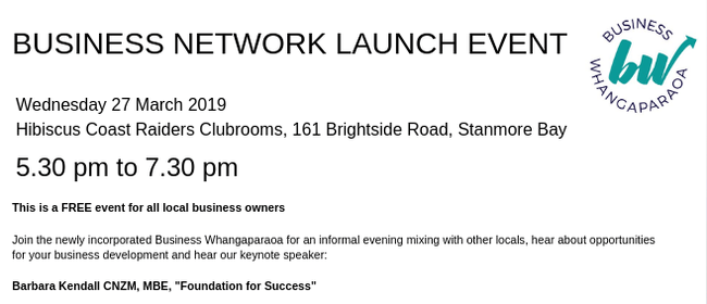 Business Whangaparaoa Network Launch