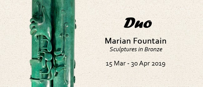 Duo - Marian Fountain - Sculptures In Bronze