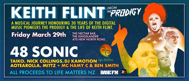 The Prodigy and the life of Keith Flint Fundraiser Event NZ