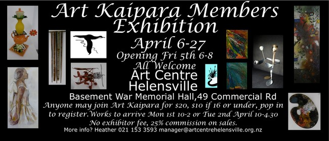 Art Kaipara April Members Exhibition