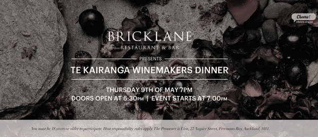Te Kairanga Winemakers Dinner: CANCELLED