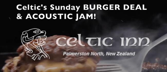 Celtic's Sunday Burger Jam – Open Mic/Jam