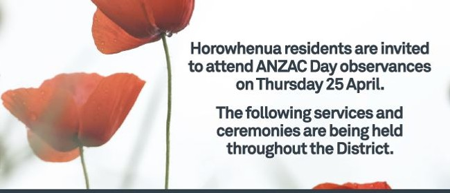 ANZAC Day Tokomaru Civic Ceremony
