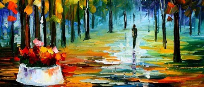 Wine and Paint Party - Autumn Walk Painting