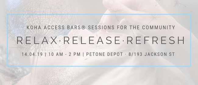 Relax. Release. Refresh. - Koha Access Bars Sessions