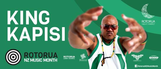 King Kapisi at Rotorua Night Market - NZ Music Month