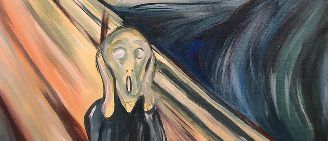 Paint and Wine Night - The Scream - Paintvine