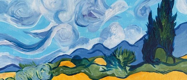 Paint and Wine Night - Wheat Fields - Paintvine