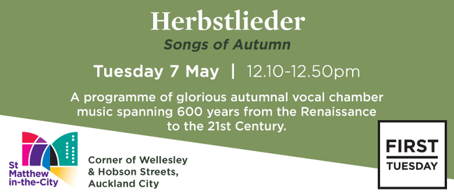 First Tuesday Concert – Herbstlieder