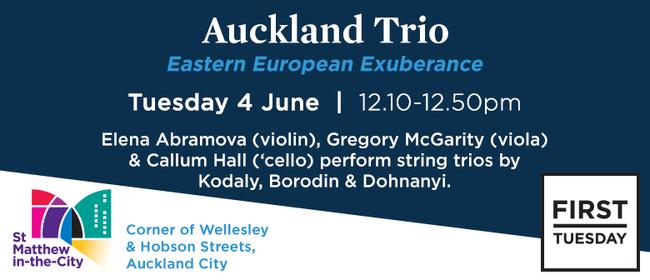 First Tuesday Concert - Auckland Trio