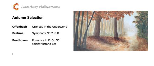 Canterbury Philharmonia Concert - Autumn