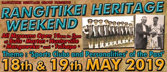 Rangitikei Heritage Weekend 2019