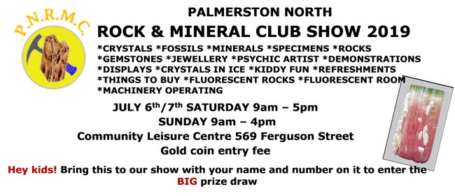 Palmerston North Rock and Mineral Show 2019