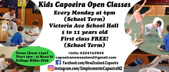 Kids Capoeira Classes Term 2