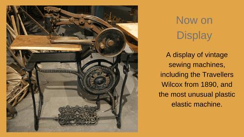 Vintage Sewing Machine Display