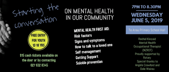 Mental Health First Aid In Our Community