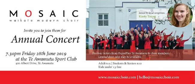 Mosaic Choir Add Te Awamutu to Their Annual Concert Program