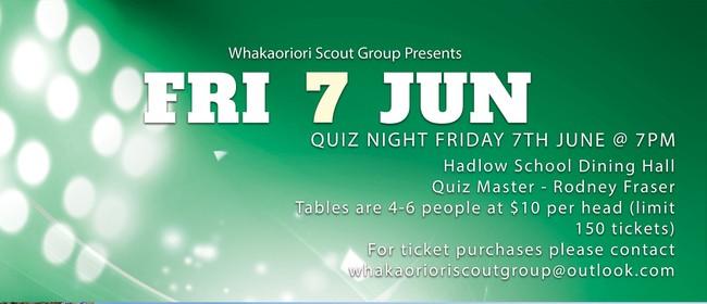 Quiz Night - Whakaoriori Air Scout Group