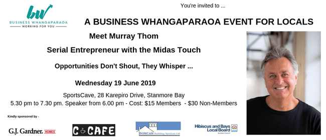 A Business Event for Locals - Murray Thom