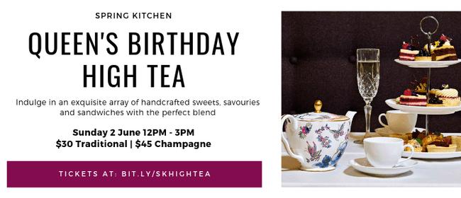 Queen's Birthday High Tea