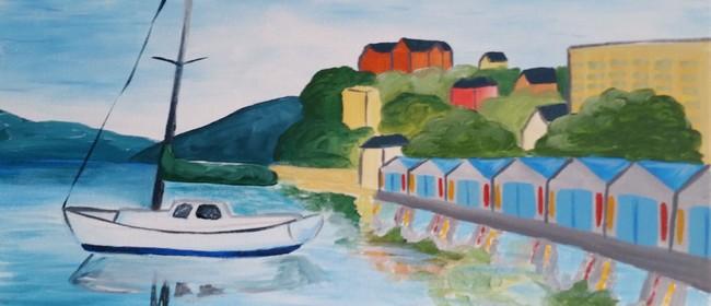 Paint and Wine Night - Oriental Bay - Paintvine
