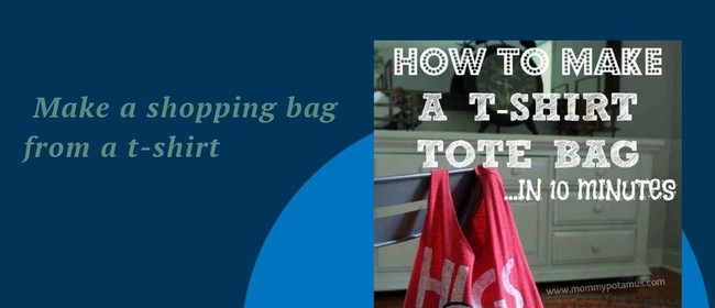Make shopping bags from used T-shirts