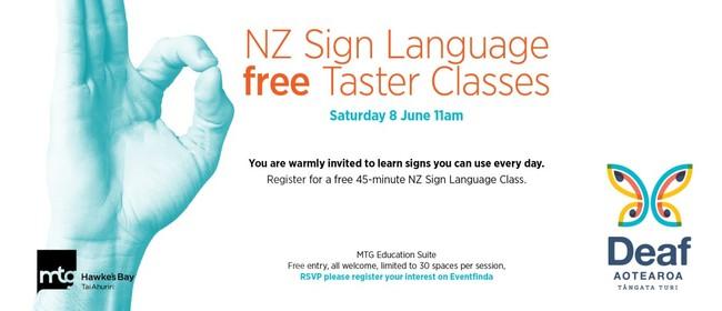 New Zealand Sign Language Taster Class