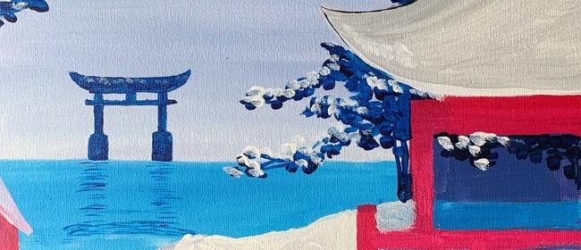 Paint and Wine Night - Snowy Japan - Paintvine