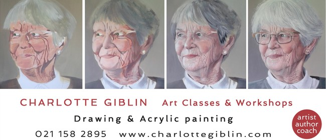 Portrait Painting In Acrylic - Weekly Classes