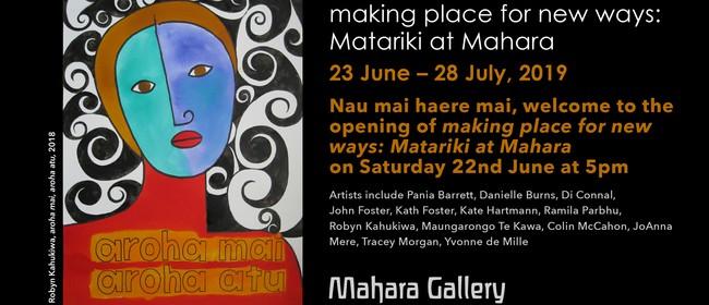 Making Place for New Ways: Matariki At Mahara