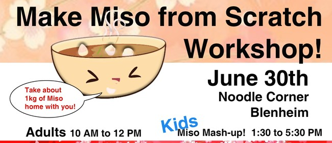 Make Miso from Scratch Workshop: CANCELLED