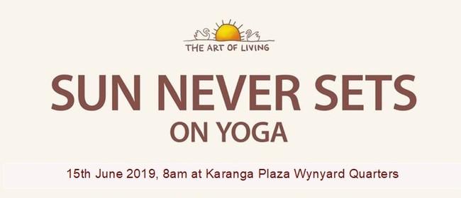 The Sun Never Sets on Yoga