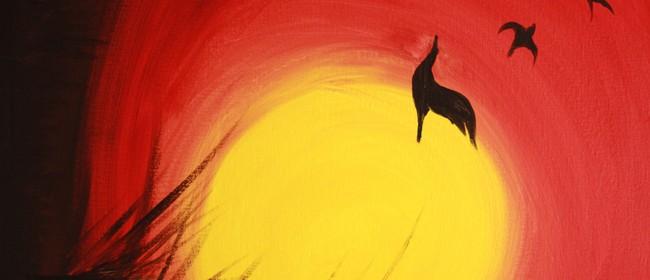 Paint & Chill Night (Auck) - Golden Sunset