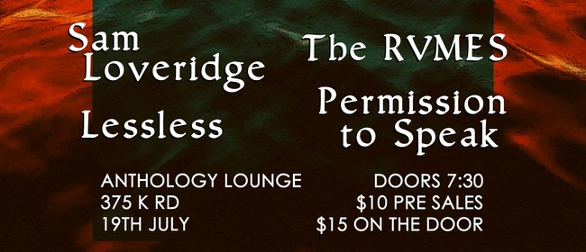 Sam Loveridge Cold Video Release Party with The Rvmes