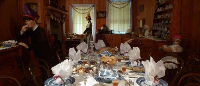 Traditional Victorian Christmas Decorations on Display