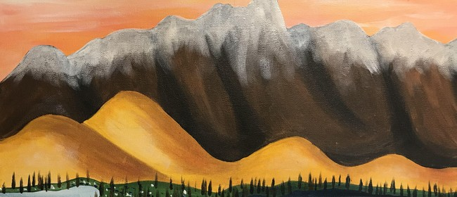 Paint and Wine Night - Remarkables - Paintvine