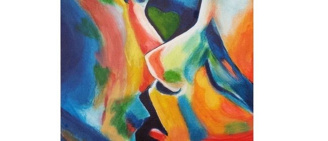 Wine and Paint Party - Colours of Love Painting