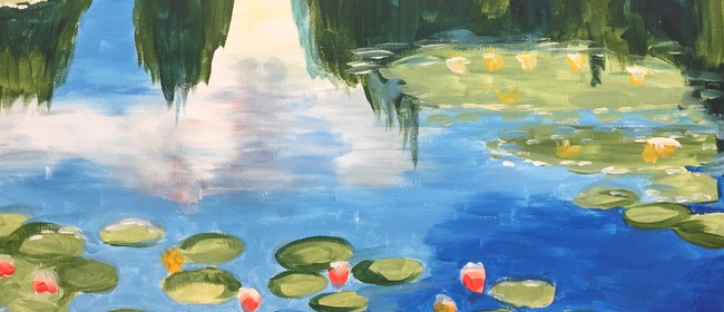 Paint and Wine Night - Monet's Water Lilies - Paintvine