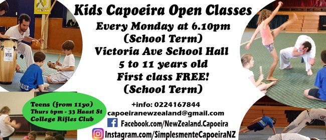 Kids Capoeira Classes Term 3