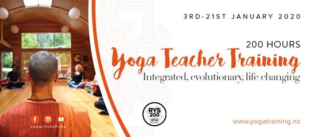 200 Hrs Yoga Teacher Training 18 Days Intensive