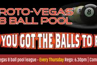 Roto-Vegas 8 Ball Pool - Open Singles Comp