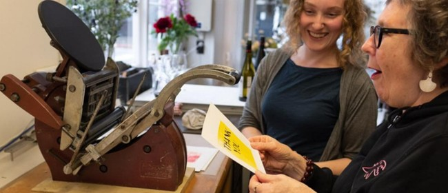 Letterpress Printing with The Old Shebang: SOLD OUT
