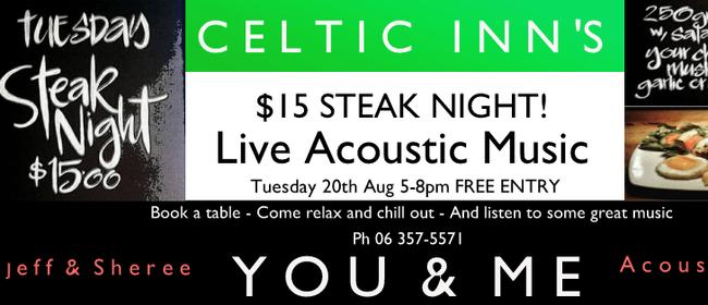 Celtic Inn's Steak Night with You & Me