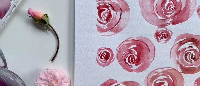 PAINT IT - Loose floral-Roses watercolour workshop