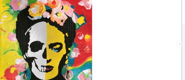 Paint 'Graffiti Frida' on Pop Art Wednesday!