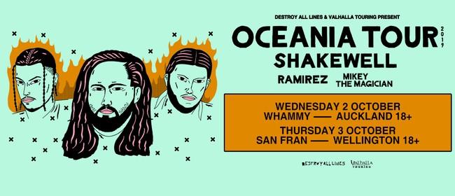 Shakewell Oceania Tour Wellington