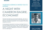 Registered Master Builders - A Night with Cameron Bagrie